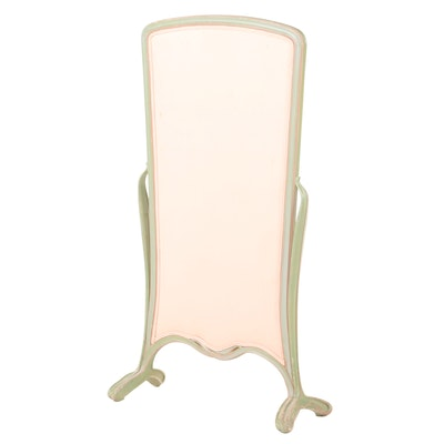 Art Nouveau Style Painted and Upholstered Screen