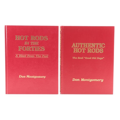 """Signed """"Authentic Hot Rods"""" and """"Hot Rods in the Forties"""" by Don Montgomery"""