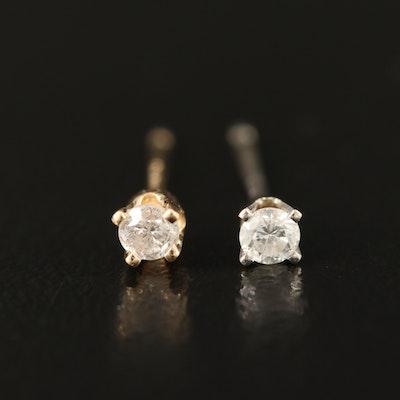 14K 0.09 CTW Diamond Stud Earrings