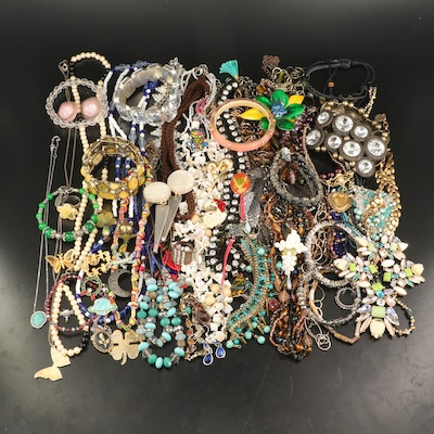 Assorted Jewelry Including Alexis Bittar, Stella and Dot and Nadri