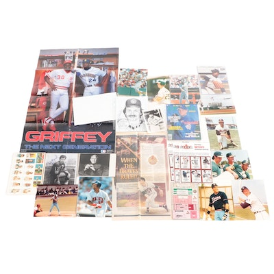 Baseball and Football Collectibles with George Burns Signed Photo Print