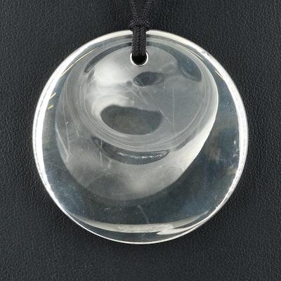 Elsa Peretti for Tiffany & Co. Sterling Round Pendant Necklace
