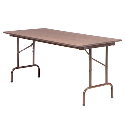 Metal and Laminate Top Folding Table