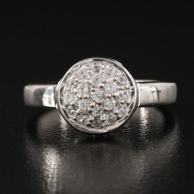 Sterling Silver Pavé Zircon Cluster Ring