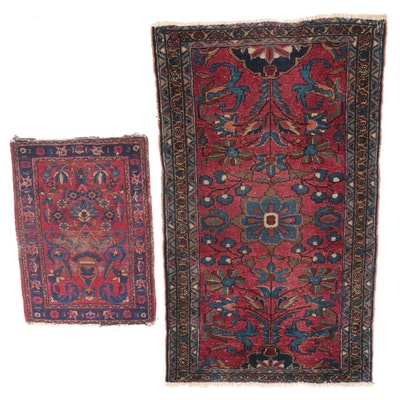 Hand-Knotted Persian Mehriban and Sarouk Accent Rugs