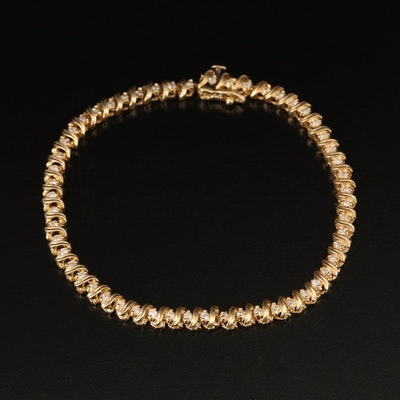 14K 1.08 CTW Diamond Bracelet