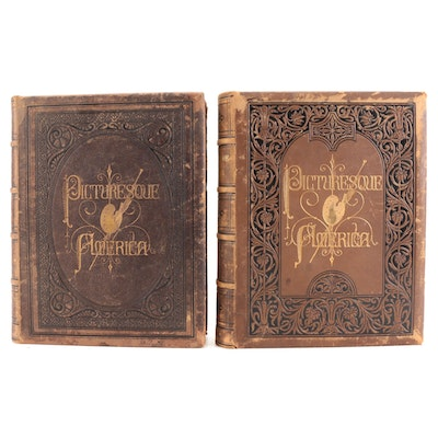 """""""Picturesque America"""" Edited by William Cullen Bryant Two-Volume Set"""