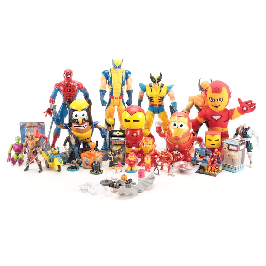 Hasbro and Other Wolverine, X-Men, Spider-Man and Iron Man Action Figures