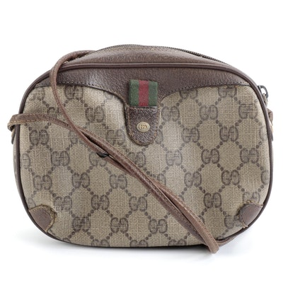 Gucci Crossbody Bag in GG Supreme Coated Canvas and Leather