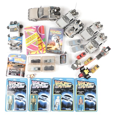 """ReAction """"Back To The Future"""" Figurines, Welly DeLorean Cars, VHS Tape, and More"""