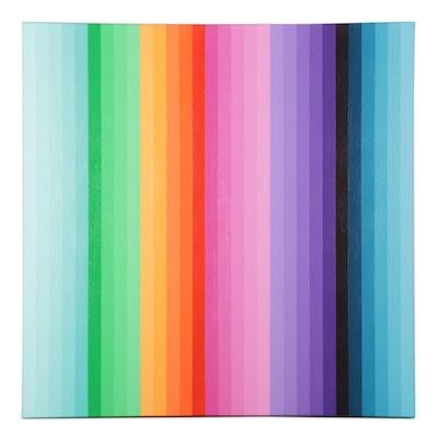 """deSanto Op Art Acrylic Painting """"Ascend,"""" 2021"""