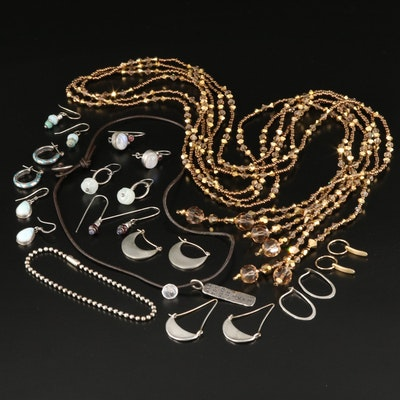 Sundance Jewelry Featuring Larimar and Garnet