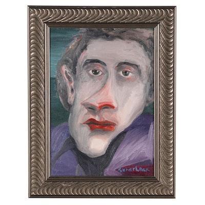 Jon Scharlock Portrait Oil Painting, 1999