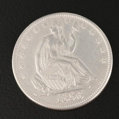 1856-O Seated Liberty Silver Half Dollar