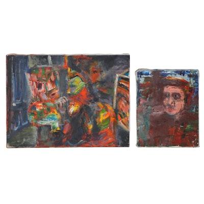 Jon Scharlock Abstract and Portrait Oil Paintings