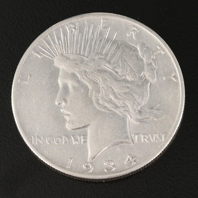 Key Date 1934-S Silver Peace Dollar