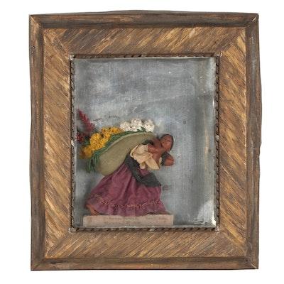 """Luis Hidalgo Wax Figure """"India con Flores de Mexico,"""" 1936"""