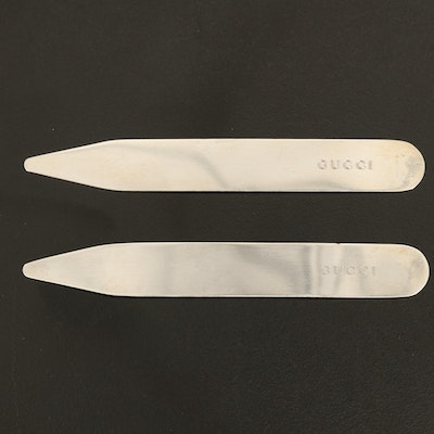 Gucci Sterling Silver Shirt Collar Stays