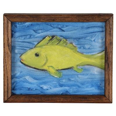 Jon Scharlock Oil Painting of Fish