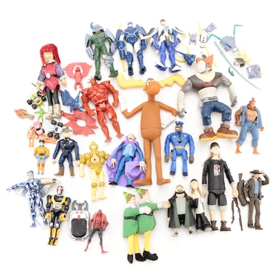 """""""Jay and Silent Bob,"""" """"Elf"""" and Other Action Figures, Late 20th to Early 21st C."""