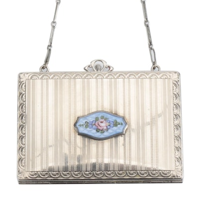 R&G Co. Belais Compact Purse with 14K White Gold Accent and Enamel