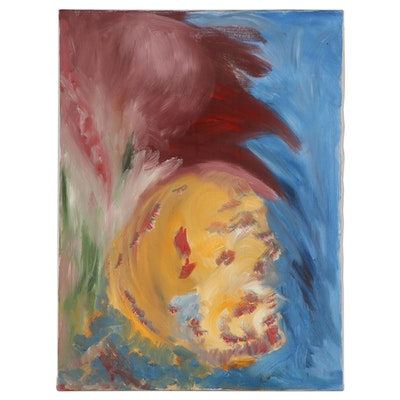 Abstract Expressionist Style Oil Painting