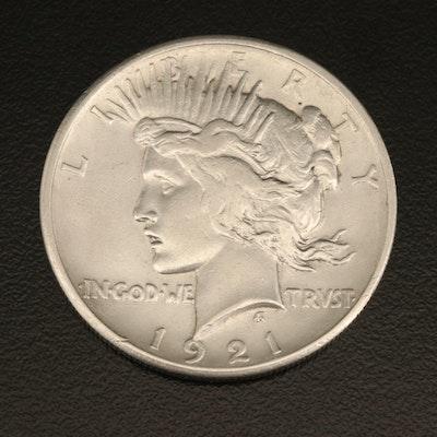 Key Date 1921 Peace Silver Dollar