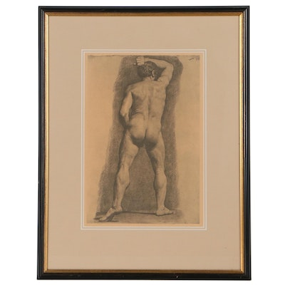 Offset Lithograph After Alexander A. Ivanov of Male Nude