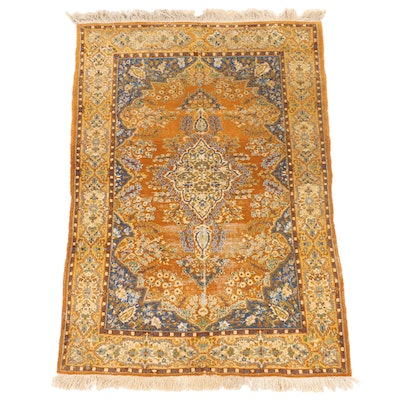 3'11 x 6'1 Hand-Knotted Persian Fereghan Area Rug