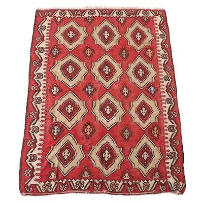 7'1 x 9'7 Handwoven Caucasian Kilim Area Rug