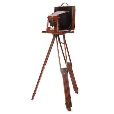 Rochester Optical King Large Format Folding View Camera with Tripod, c. 1900