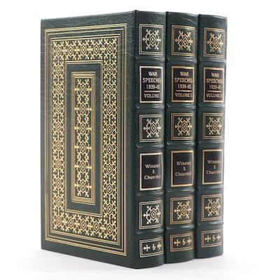 """Easton Press """"The War Speeches of Winston S. Churchill"""" Three-Volume Set, 2001"""