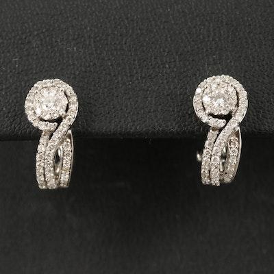 14K 0.86 CTW Diamond Earrings