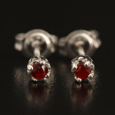 Sterling Opal Stud Earrings