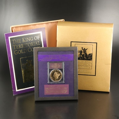 California Historical Society 1855 Kellogg $50 Gold Commemorative Restrike