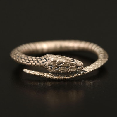 Tiffany & Co. Sterling Silver Viper Scarf Ring