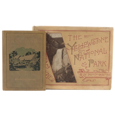 """""""Yellowstone National Park in Photo-Gravure"""" and More, Late 19th/Early 20th C."""