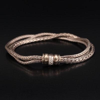 John Hardy Sterling 0.14 CTW Diamond Bracelet with Pouch