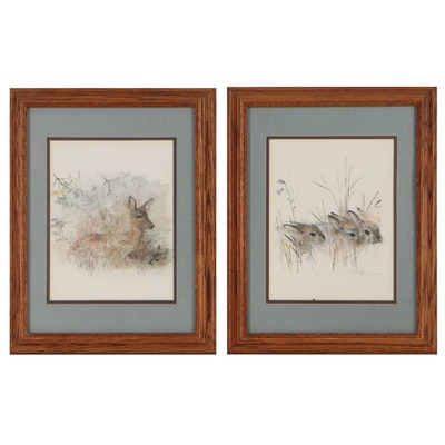 Offset Lithographs of Wildlife After Mads Stage