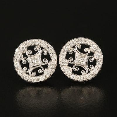 18K 0.44 CTW Diamond Openwork Earrings