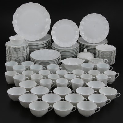 "Giraud ""Corail White"" Limoges Porcelain Dinnerware, Late 20th Century"