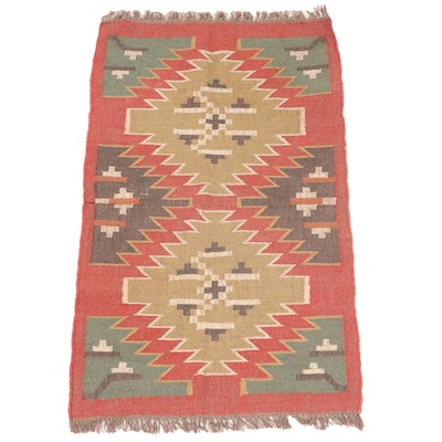 3' x 5'4  Handwoven Indian Dhurrie Accent Rug