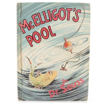"""Illustrated """"McElligot's Pool"""" by Dr. Seuss, Mid to Late 20th Century"""