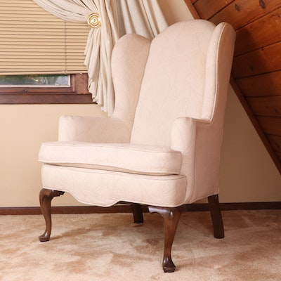 """Ethan Allen """"Traditional Classics"""" Upholstered Wingback Armchair"""