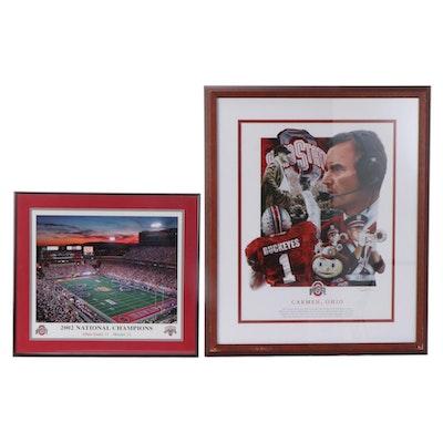 "Ohio State Buckeyes Framed Prints Including ""2002 World Champions"" Photo Print"