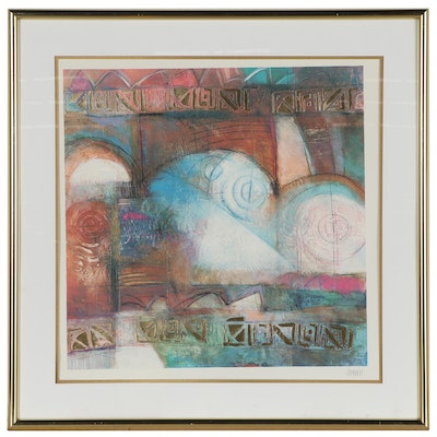 Abstract Offset Lithograph, Late 20th Century