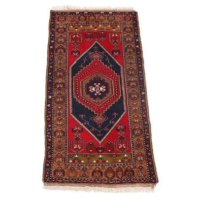 3'7 x 7'3 Hand-Knotted Persian Kurdish Area Rug