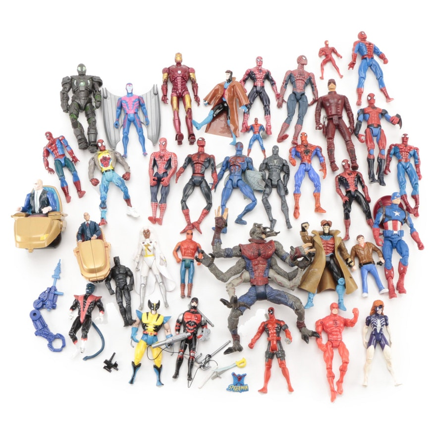 Toy Biz Inc. and Hasbro Spider-Man, Wolverine, and Other Marvel Action Figures