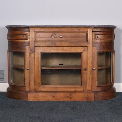 """Arhaus """"Kensington"""" Recycled Pine and Granite Top Media Cabinet"""