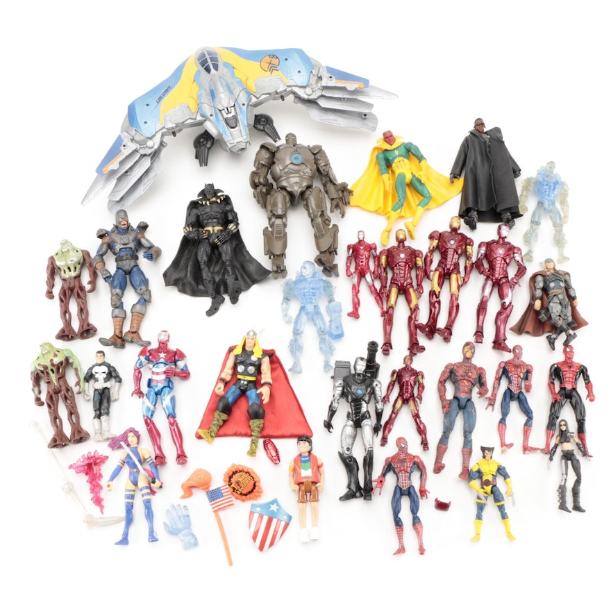 Toy Biz, Kenner, and Hasbro Wolverine, Iron Man, and Other Marvel Action Figures